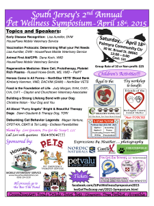2015 South Jersey's 2nd Annual Pet Wellness Flyer