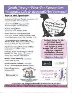 SOUTH JERSEY'S FIRST PET SYMPOSIUM