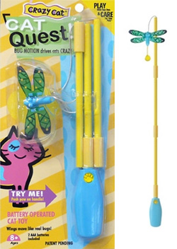 Tequila And My Brother S Cat Tommy Tried Out The New Crazy Quest Toy Recently It A Pretty Cool Fishing Rod Type But Instead Of Having