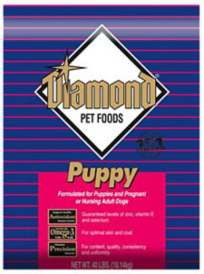 Puppy Diamond Dog Food >> Pet Food Recall Diamond Puppy Formula