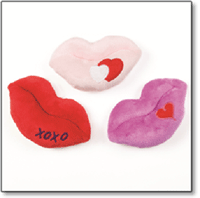 petsmart kissing lips dog toy