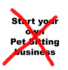 reasons not to start a pet sitting business