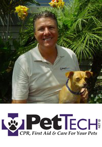 Thom Somes, The Pet Safety guy teaches pet first aid & pet cpr to pet owners.