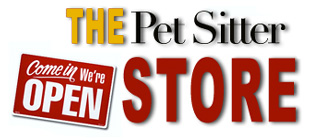 The Pet Sitter Store sells pet sitter business products, pet sitter merchandise, pet sitting books, pet sitter clothing, pet products, dog walking supplies, pet sitter web design resources, pet sitter and dog walker logos, and other pet sitting and dog walking business items.